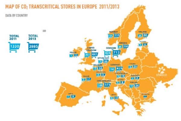 유럽의 CO2 적용 수퍼마켓 동향