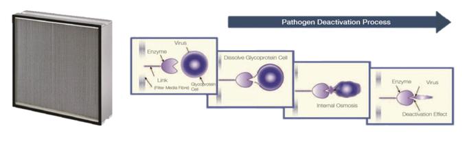 바이러스를 비활성화해 2차 감염을 예방하는 Vanish HEPA Filter(Pathogen Filter).