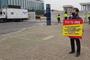 우레탄協, '심재준불연 건축법 반대' 1인시위